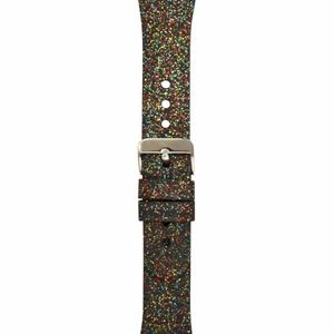 "INC Rainbow Glitter Silicone Apple Watch 42"""